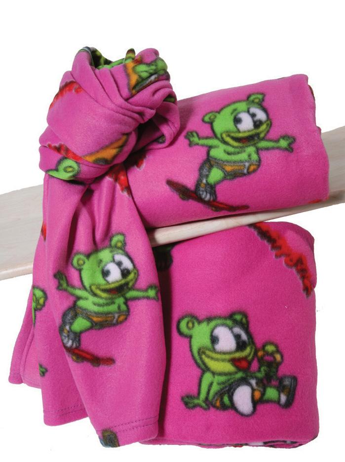Gummy Bear Fleece κουβέρτα αγκαλιάς Gummy Bear Φούξια Φούξια viops15956