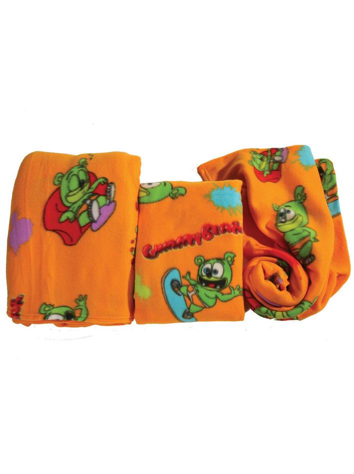 Gummy Bear Fleece κουβέρτα αγκαλιάς Gummy Bear Πορτοκαλί Πορτοκαλί viops15954