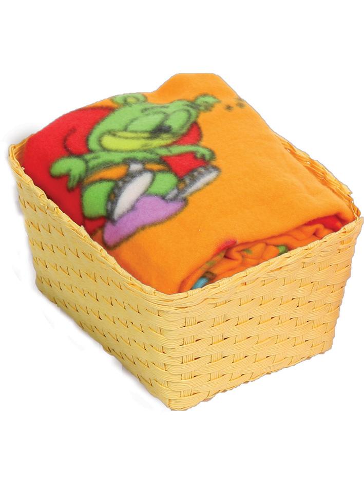 Gummy Bear Καλαθάκι δώρου με fleece κουβέρτα κούνιας Gummy Bear Πορτοκαλί Πορτοκαλί viops15963