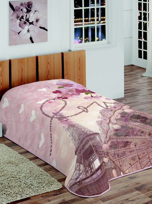 Beauty Home Κουβέρτα μονή velour 3D Love 6031ΚΒΜΟ