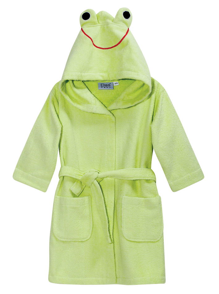 Das Baby Μπουρνούζι Baby Smile Embroidery 6390 Νο3-4 Λαχανί 62070846390