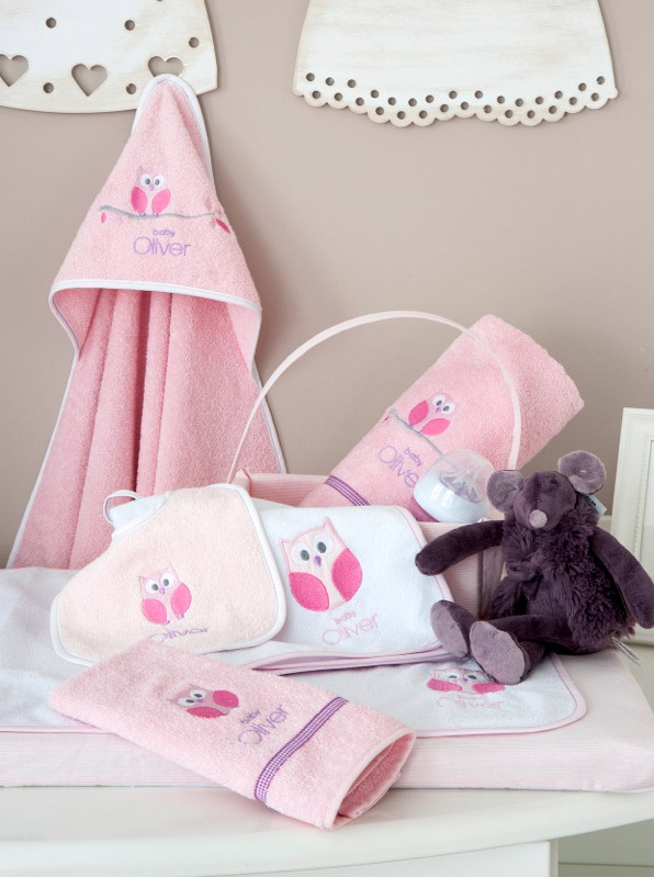 Baby Oliver Σελτεδάκι Sweet pink Owl Design 630 466718630 βρεφικά   σελτεδάκια   πάνες