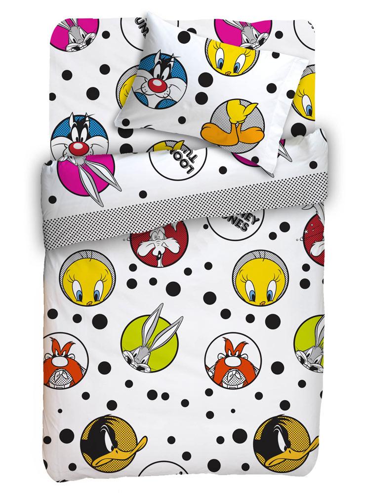Looney Tunes – Σετ κουβερτώριο μονό Looney Tunes – – – 160×240 Κουβερλί – 50×70 Μαξιλαροθήκη – viow16169