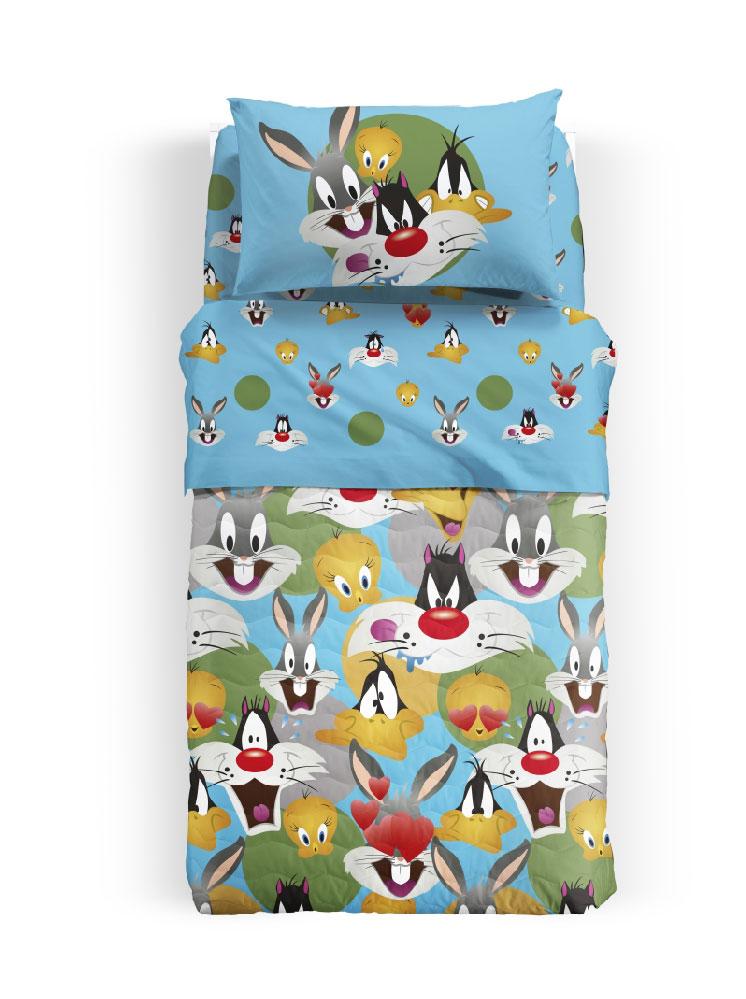 Looney Tunes – Σετ Σεντόνια Μονά Emozioni – – – 160×270 Σεντόνι – 90×200 Κατωσέντονο – 50×70 Μαξιλαροθήκη – 8000842678773