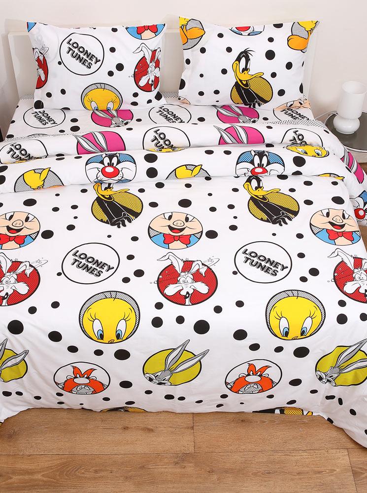 Looney Tunes Σετ σεντόνια υπέρδιπλα Looney Tunes Διπλό viow16389