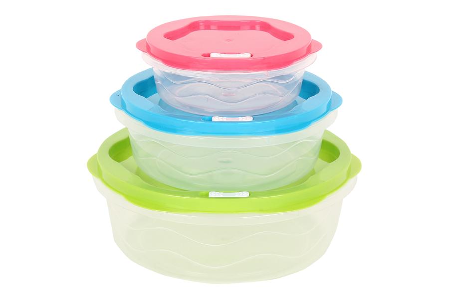 Keskor - Δοχεία φαγητού τεμ. 3 στρογγυλά πλαστικά - - - - 0250163