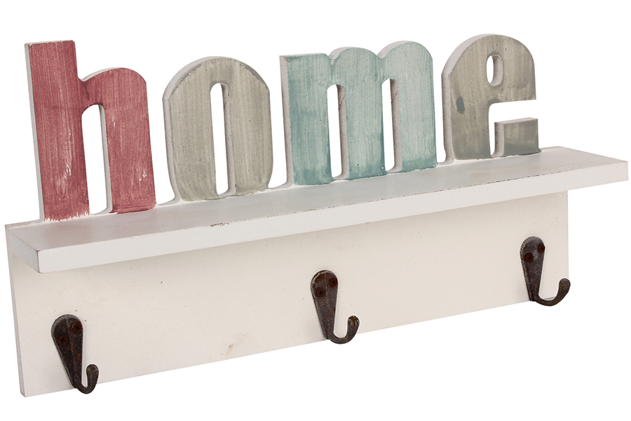 Keskor - Κρεμάστρα ξύλινη τοίχου με 3 θέσεις σχ. ΗΟΜΕ - - - - 044112 είδη σπιτιού   για τα ρούχα   κρεμάστρες   κρεμαστράκια