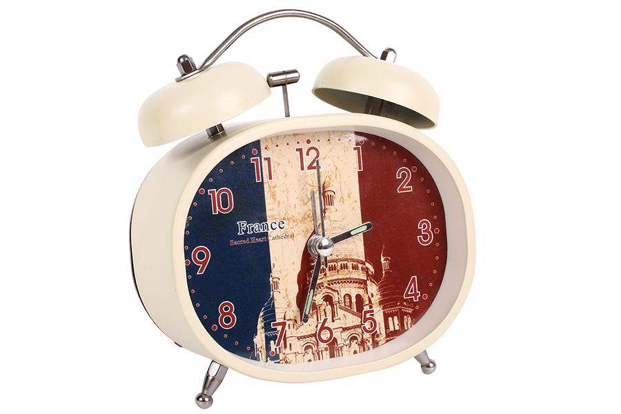 Keskor - Ρολόι ξυπνητήρι μεταλλικό με φως 10,5Χ5Χ12 εκ. σχ. FRANCE - - - - 04400 είδη σπιτιού