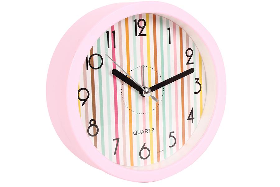 Keskor - Ρολόι ξυπνητήρι στρογγυλό Φ11,5Χ4 εκ. χρ. ροζ - - - - 044120-2 είδη σπιτιού