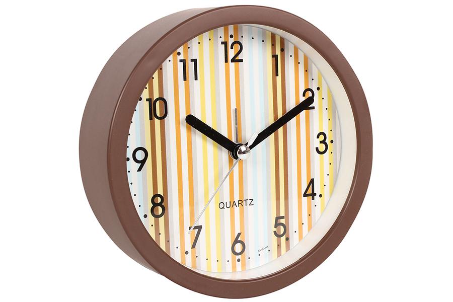 Keskor - Ρολόι ξυπνητήρι στρογγυλό Φ11,5Χ4 εκ. χρ. καφέ - - - - 044120-4 είδη σπιτιού