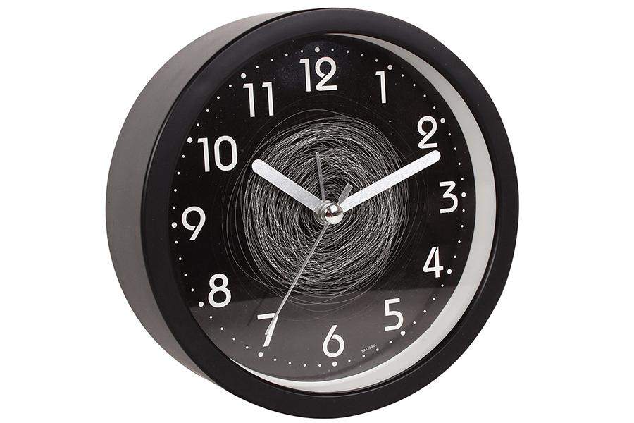 Keskor - Ρολόι ξυπνητήρι στρογγυλό Φ11,5Χ4 εκ. χρ. μαύρο με κύκλους - - - - 0441 είδη σπιτιού