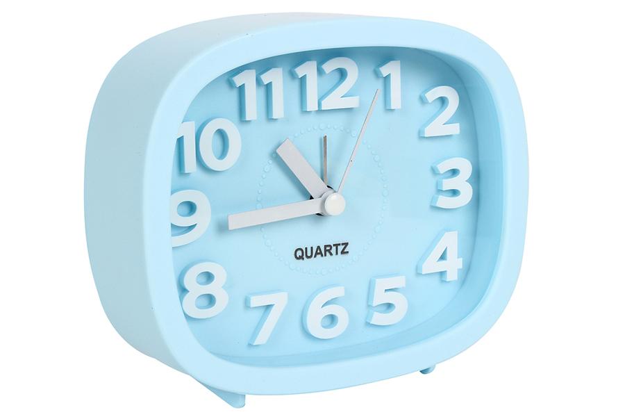 Keskor - Ρολόι ξυπνητήρι 12Χ4Χ10 εκ. χρ. σιέλ - - - - 04412079-3 είδη σπιτιού