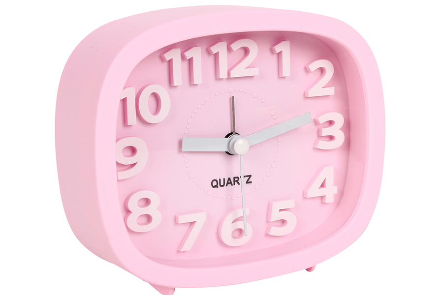 Keskor - Ρολόι ξυπνητήρι 12Χ4Χ10 εκ. χρ. ροζ - - - - 04412079-5 είδη σπιτιού