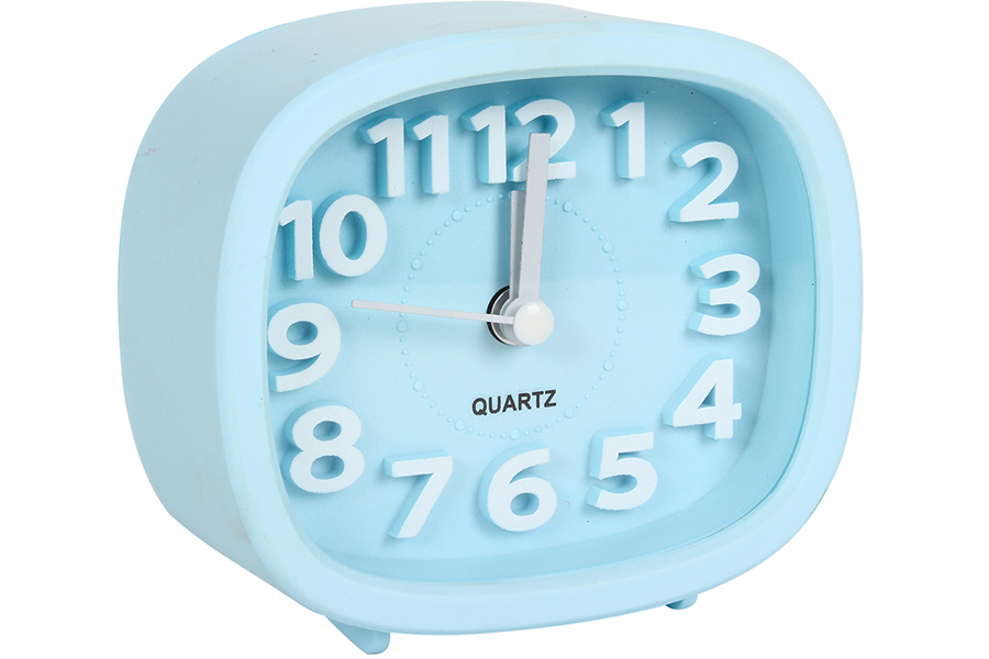Keskor - Ρολόι ξυπνητήρι 9,5Χ4Χ8,5 εκ. χρ. σιέλ - - - - 04412080-2 είδη σπιτιού