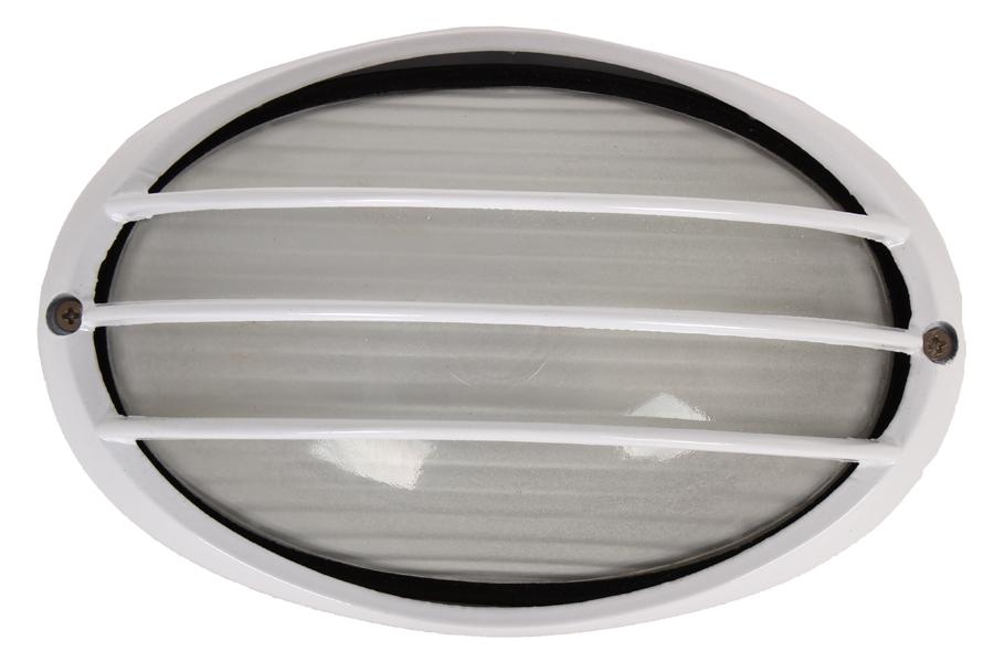 Keskor Απλίκα χελώνα εξωτερικού χώρου αλουμινίου με γυαλί 21Χ15 εκ. χρ. λευκό 6601-3