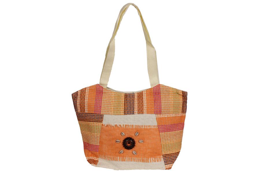 Keskor - Τσάντα ψάθινη 48Χ35 εκ. χρ. πορτοκαλί - - - - 49618-6