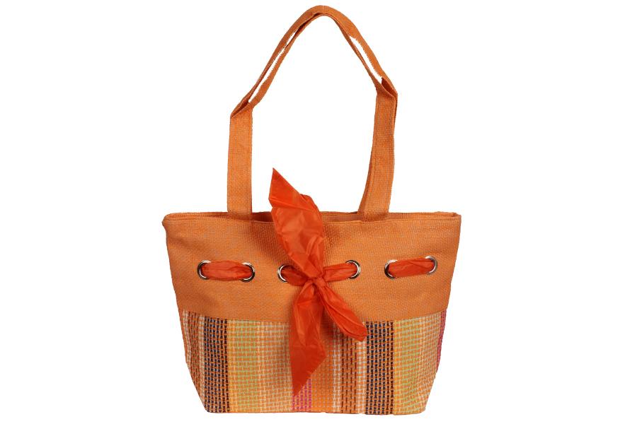 Keskor - Τσάντα ψάθινη 45Χ30 εκ. χρ. πορτοκαλί - - - - 49924-5