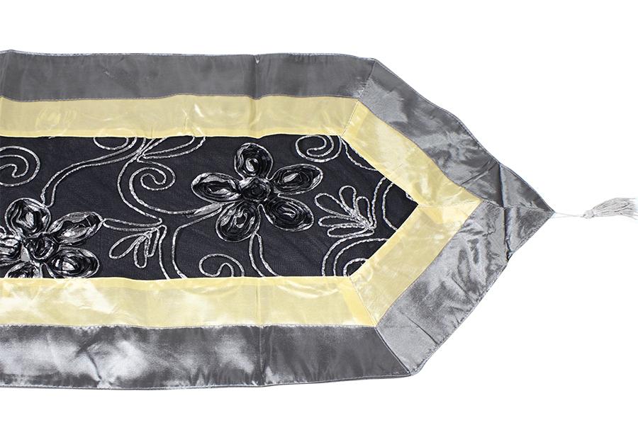 Keskor Σεμέν 150Χ40 εκ. με ανάγλυφο σχέδιο χρ. μαύρο-μπεζ 056011