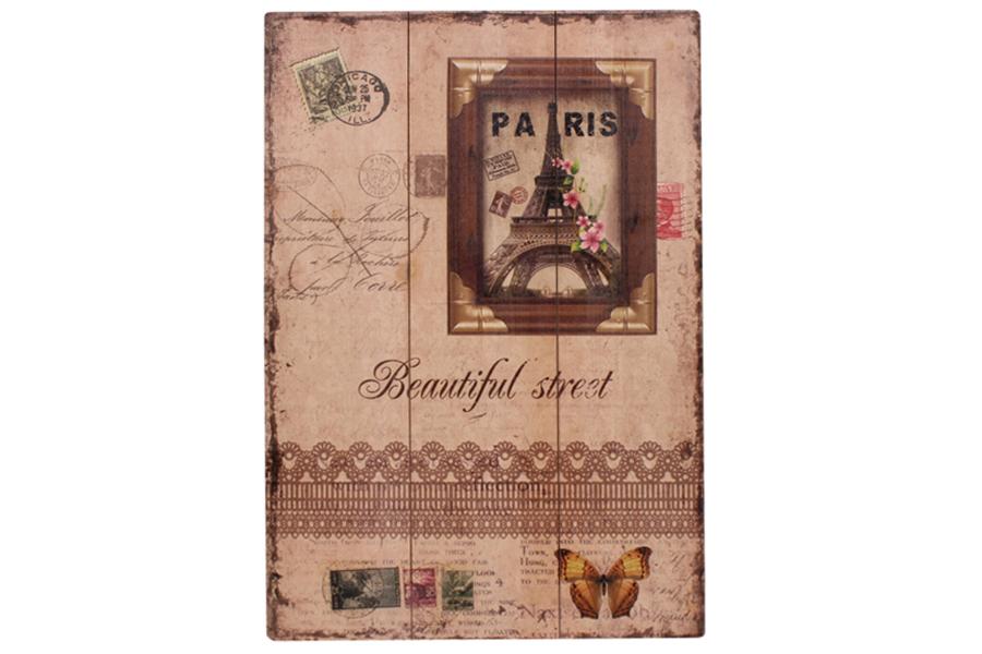 Keskor - Πίνακας τοίχου ξύλινος 40Χ60 εκ. σχ. PARIS - - - - 51240-1 είδη σπιτιού   έπιπλα   διακόσμηση   πίνακες