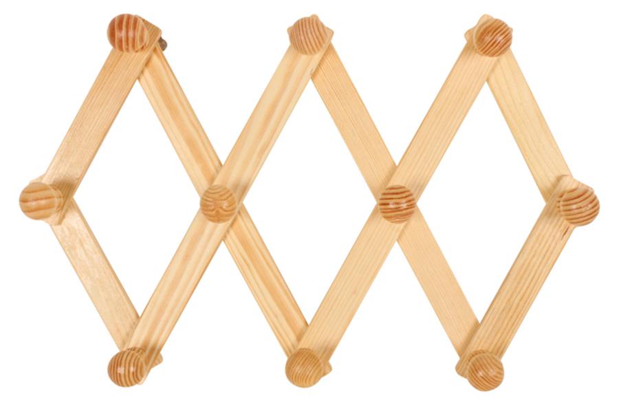 Keskor - Κρεμάστρα τοίχου πτυσσόμενη 71Χ30 εκ. ξύλινη 10 θέσεων 16119-4 - - - -  είδη σπιτιού   για τα ρούχα   κρεμάστρες   κρεμαστράκια