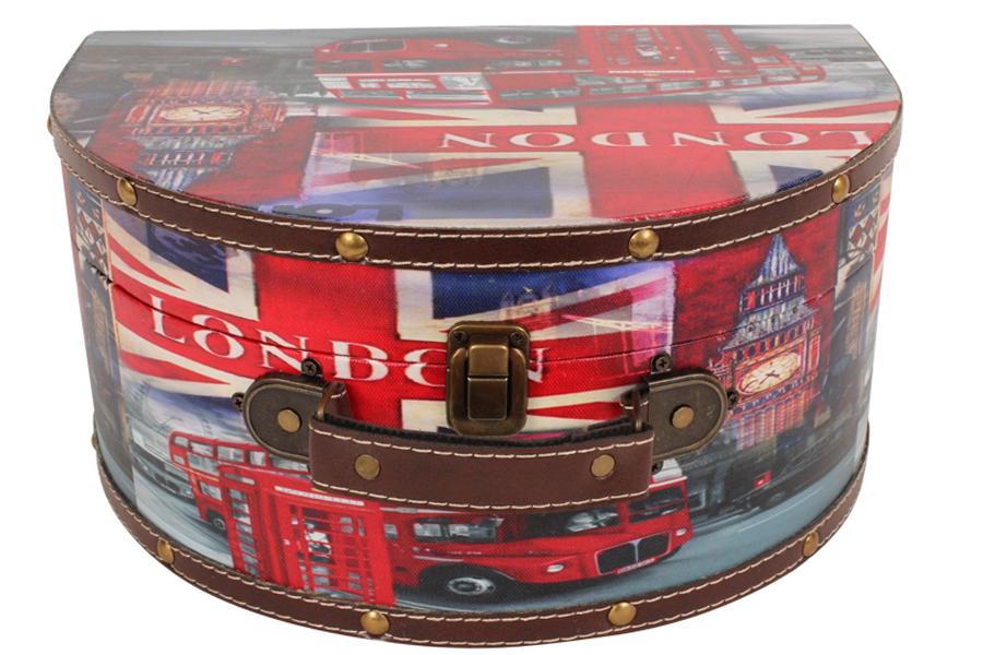 Keskor - Νεσεσέρ - κουτί αποθήκευσης με επένδυση PU 32Χ22,5Χ15 εκ. σχ. LONDON BUS - - - - 5166624-7