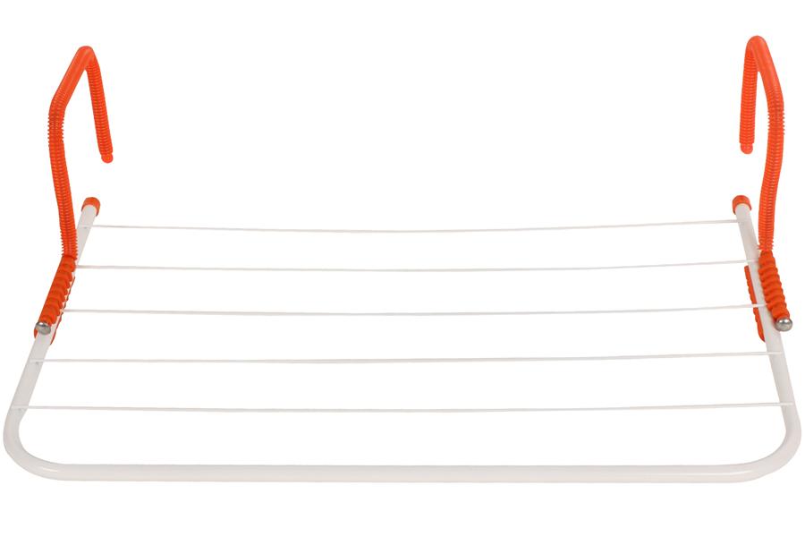 Keskor - Απλώστρα μπαλκονιού - καλοριφέρ 55Χ34 εκ. χρ. πορτοκαλί - - - - 545636-1