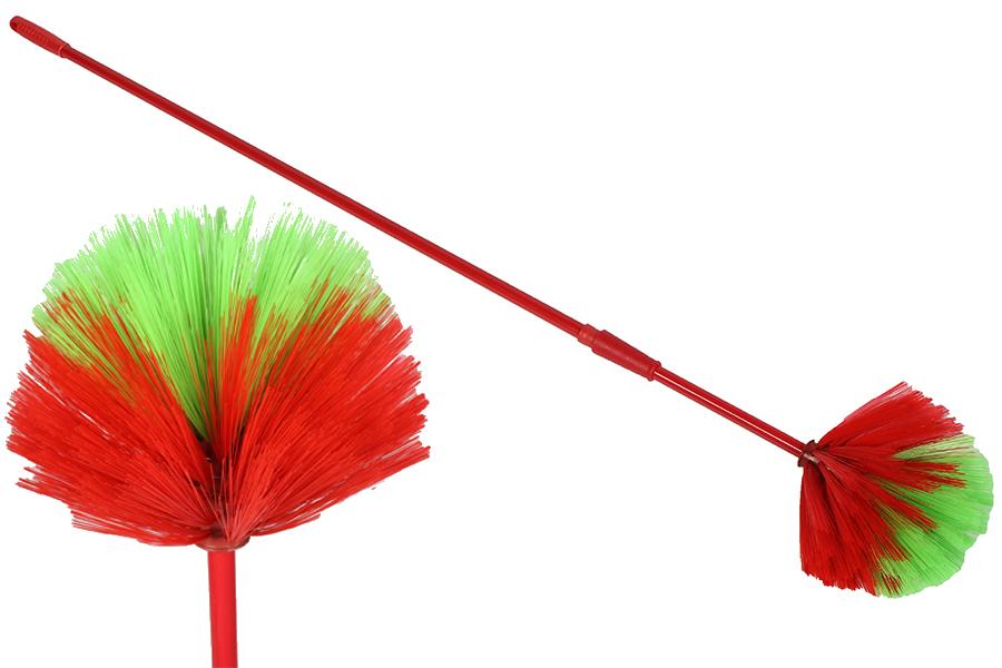Keskor Αραχνόσκουπα - Ξαραχνιάστρα Φ18 εκ. με πτυσσόμενο κοντάρι 110-190 εκ χρ. κόκκινο 651004310-3