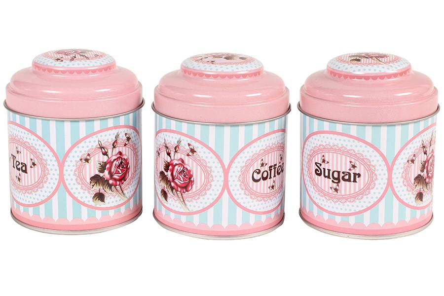 Keskor Βαζάκια τεμ. 3 μεταλλικά Φ9Χ11 εκ. καφέ – ζάχαρη – τσάι 623774-2 είδη σπιτιού   εξοπλισμός σπιτιού   αποθηκευτικά   οργάνωση σπιτιού