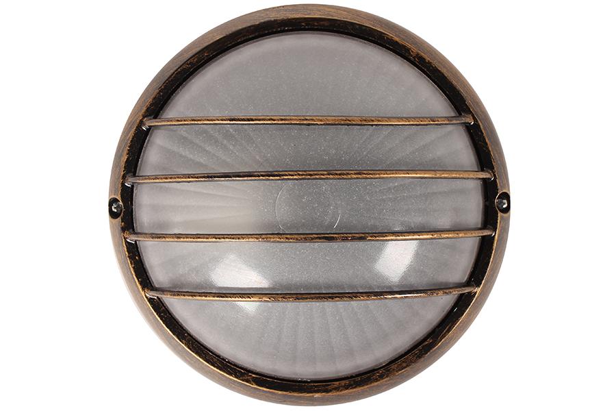 Keskor Απλίκα χελώνα εξωτερικού χώρου αλουμινίου με γυαλί Φ19Χ8 εκ. χρ. μπρονζέ 2709 692709