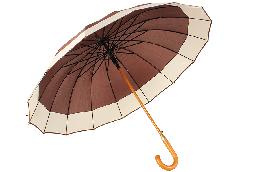 Keskor Ομπρέλα βροχής αυτόματη με ξύλινο μπαστούνι και 16 ακτίνες Φ110Χ94 εκ. χρ αξεσουάρ ομορφιά   υγιεινή   χειμερινά αξεσουάρ