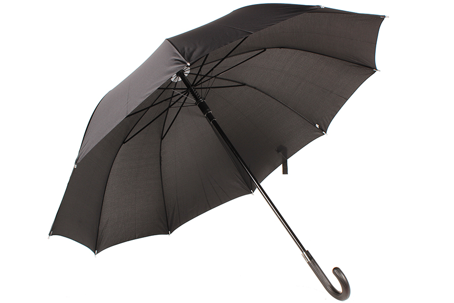 Keskor Ομπρέλα βροχής αυτόματη με μπαστούνι και 10 ακτίνες Φ120Χ95 εκ. χρ. μαύρο αξεσουάρ ομορφιά   υγιεινή   χειμερινά αξεσουάρ