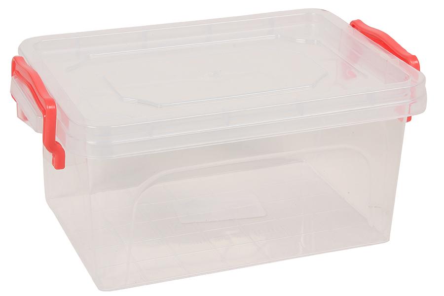 Keskor - Δοχείο φαγητού πλαστικό 1,75 λίτρα διάφανο με σύστημα ασφαλείας πορτοκαλί 0672-1 - - - - 180672-1