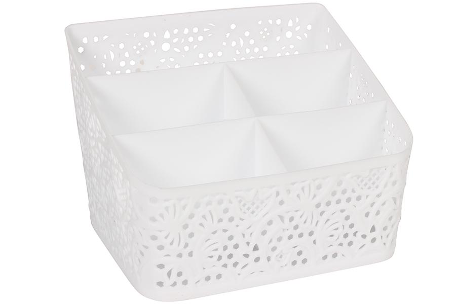 Keskor - Κουταλοθήκη πλαστική 19,5Χ14Χ14 εκ. λευκή 0758 - - - - 328000758