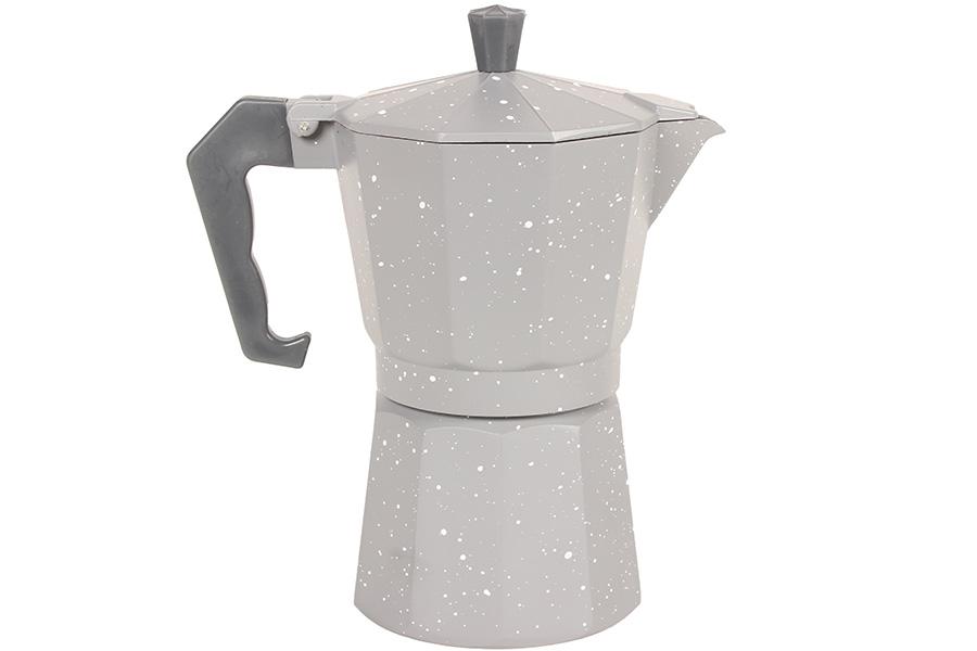 Keskor - Καφετιέρα - μπρίκι Espresso για 6 φλιτζάνια γκρι πιτσιλωτό 607101-3 - - είδη σπιτιού   κουζίνα   καφές τσάι