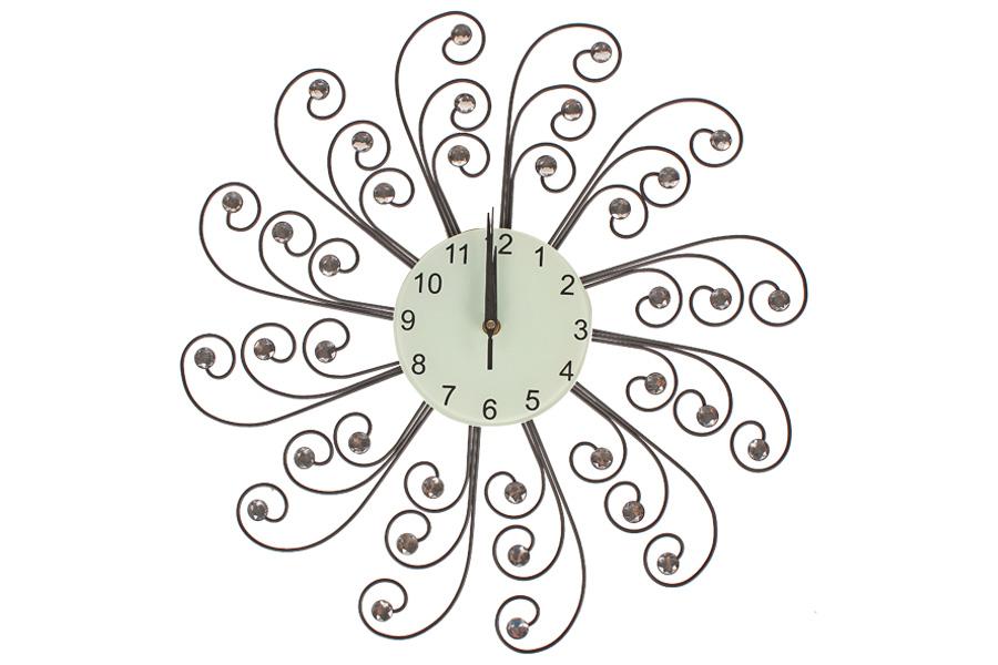 Keskor - Ρολόι τοίχου μεταλλικό Φ57 εκ. με ακρυλικά strass 871501 - - - - 871501 είδη σπιτιού