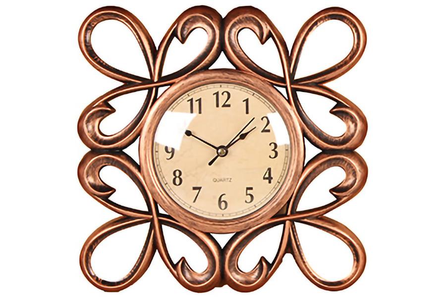 Keskor - Ρολόι τοίχου πλαστικό 25Χ25 εκ. χαλκός 599304-4 - - - - 599304-4 είδη σπιτιού