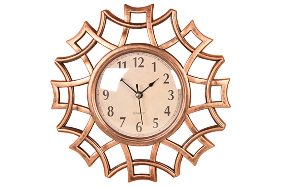 Keskor - Ρολόι τοίχου πλαστικό Φ25 εκ. χαλκός 599307-4 - - - - 599307-4 είδη σπιτιού
