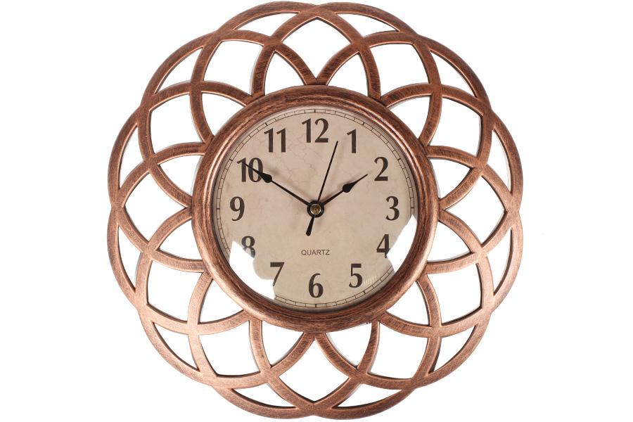 Keskor - Ρολόι τοίχου πλαστικό Φ25 εκ. χαλκός 599309-1 - - - - 599309-1 είδη σπιτιού