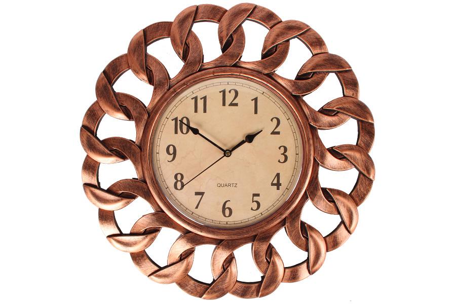Keskor - Ρολόι τοίχου πλαστικό Φ40 εκ. χαλκός 599310-2 - - - - 599310-2 είδη σπιτιού