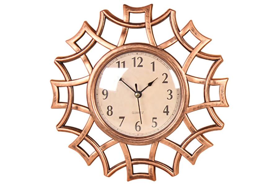 Keskor - Ρολόι τοίχου πλαστικό Φ40 εκ. χαλκός 599311-3 - - - - 599311-3 είδη σπιτιού