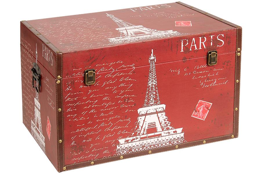 Keskor - Μπαούλο αποθήκευσης ξύλινο με επένδυση PU 60Χ40Χ39 εκ. PARIS 35701-4 -  είδη σπιτιού   έπιπλα   διακόσμηση   μπαούλα   κουτιά