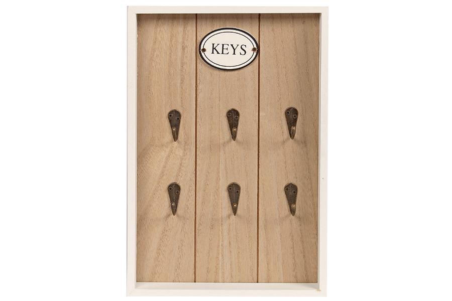 Keskor - Κλειδοθήκη τοίχου ξύλινη 20Χ30Χ3 εκ. σχ. HOME 85210 - - - - 85210 είδη σπιτιού   έπιπλα   διακόσμηση