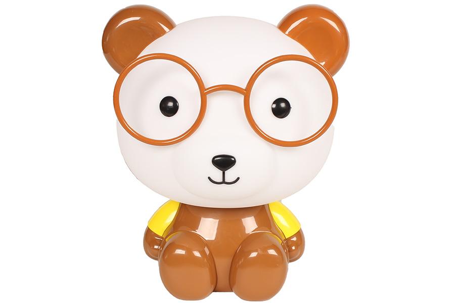 Keskor - Πορτατίφ παιδικό Ε14 Αρκούδος με γυαλιά καφέ 88499-20 - - - - 88499-20 είδη σπιτιού   πορτατίφ   φωτιστικά