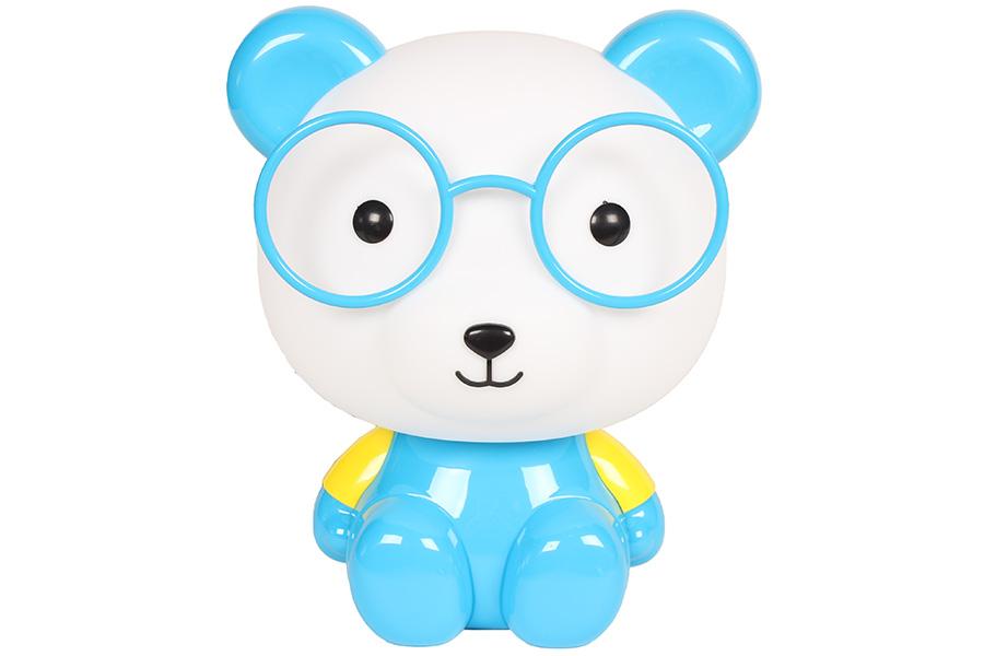 Keskor - Πορτατίφ παιδικό Ε14 Αρκούδος με γυαλιά μπλε 88499-21 - - - - 88499-21