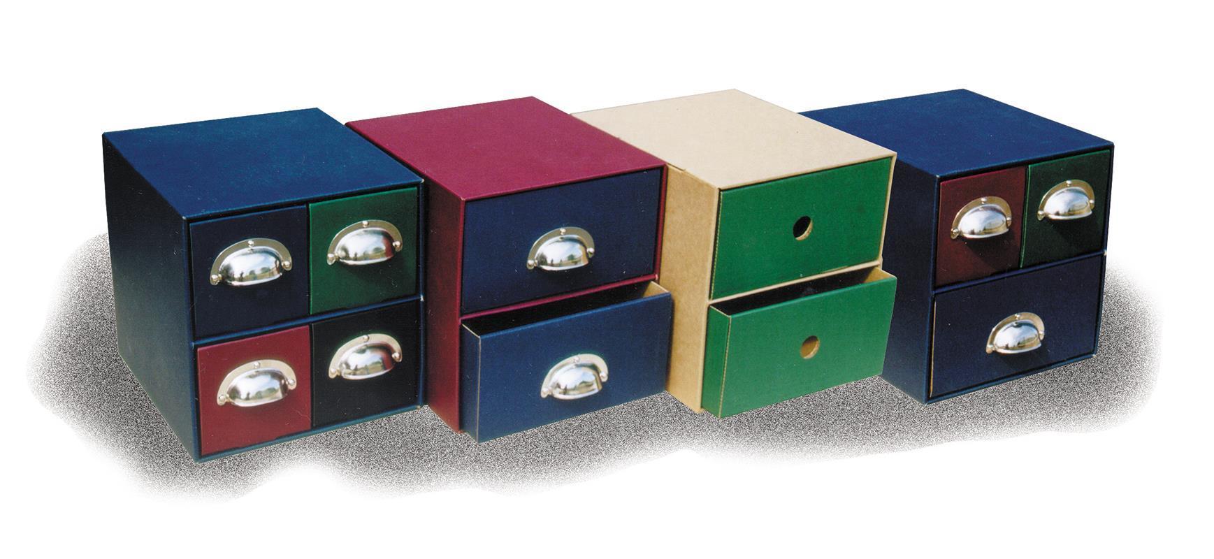 Next Next συρταριέρα 4συρτ. classic μπλε & μεταλ. λαβές Υ21x22x23εκ. 04046-03---3