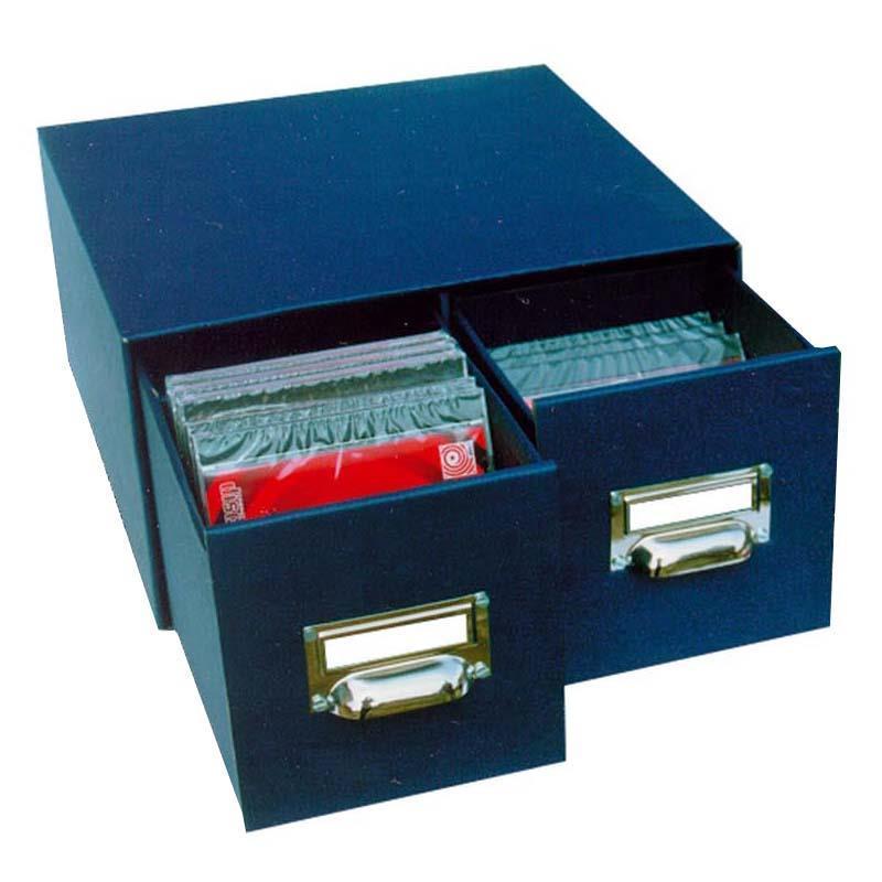 Next - Next CD-DVD θήκη classic μπλε 2 συρτ. μεταλ. λαβές Y30x16x31εκ. - - - - 0 είδη γραφείου   αρχειοθέτηση   σειρά paperworld  χάρτινα κουτιά