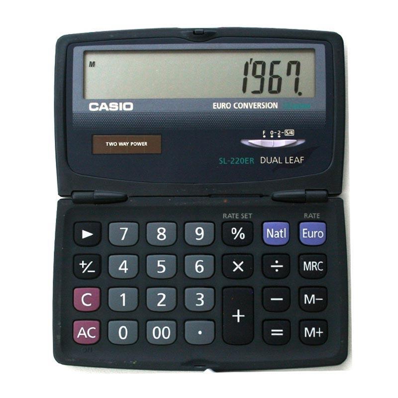 Casio - Casio αριθμομηχανή γενικής χρήσης SL-220ER - - - - 05680---10-2 είδη γραφείου   μηχανές γραφείου αναλώσιμα   κομπιουτεράκια