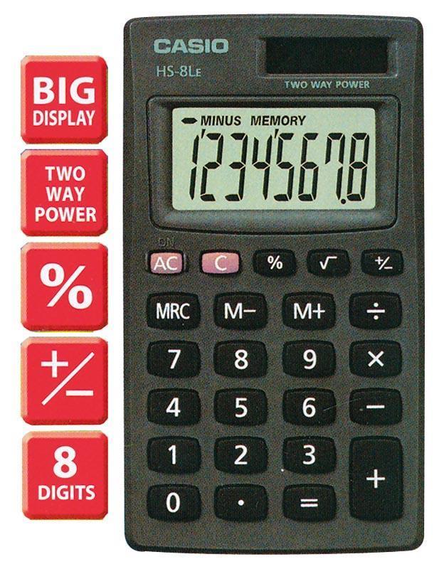 Casio Casio αριθμομηχανή γενικής χρήσης HS-8LE 05681---10-2