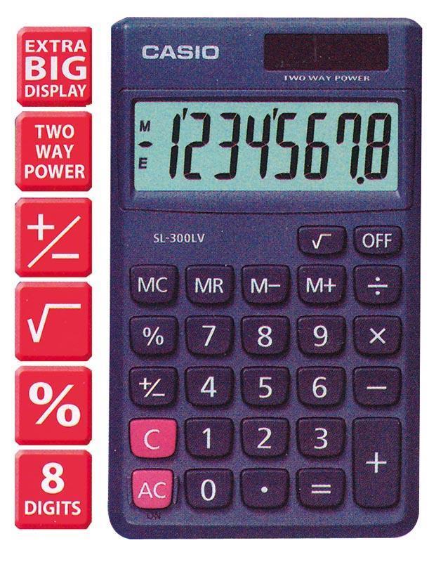 Casio Casio αριθμομηχανή γενικής χρήσης SL-300LE 05684---10-2