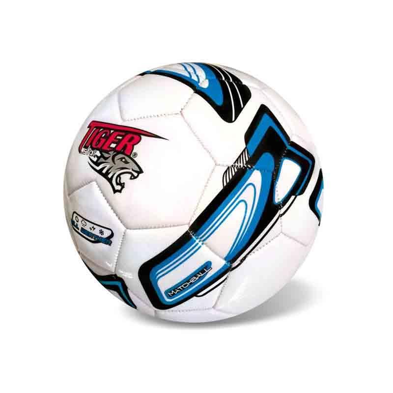 Next Star μπάλα ποδοσφαίρου δερμάτινη Tiger μπλε-λευκό 12734---43-2 παιχνίδια   μπάλες   δερμάτινες